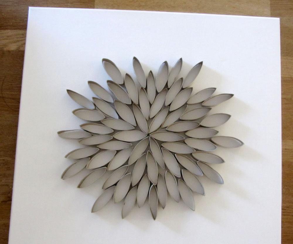 Verwonderend Een 3D kunstwerkje van WC-papier rolletjes → Leuk voor kids YP-95