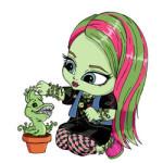 Baby Monster High kleurplaat
