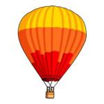 Ballonvaren kleurplaat