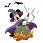 Disney Halloween kleurplaat