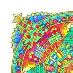 Feestdagen mandala's kleurplaat