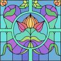 Glas in lood taferelen kleurplaten