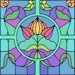 Glas in lood taferelen kleurplaat