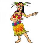 Hawai danseressen kleurplaat