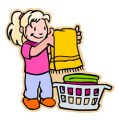 Voorwerpen en bezigheden in en om het huis kleurplaten