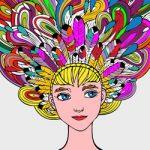 Fantasiekapsels kleurplaat