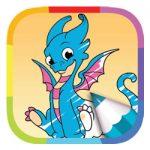 Kleurboek draken voor kids kleurplaat
