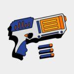 NERF blasters kleurplaat