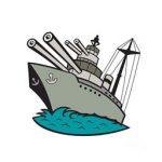 Oorlogsschepen kleurplaat