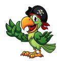 Piraatpapegaaien kleurplaten