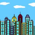 Steden en gebouwen kleurplaten
