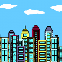 Cities and buildings coloring pages
