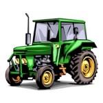 Tractors kleurplaat