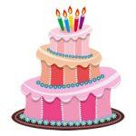 Verjaardags taarten kleurplaat