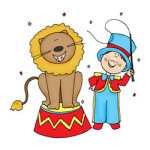 Circus kleurplaat