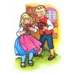Hans en Grietje kleurplaat