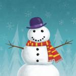 Sneeuwpoppen kleurplaat