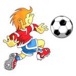 Sport: voetbal kleurplaat