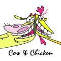 Cow en Chicken kleurplaten