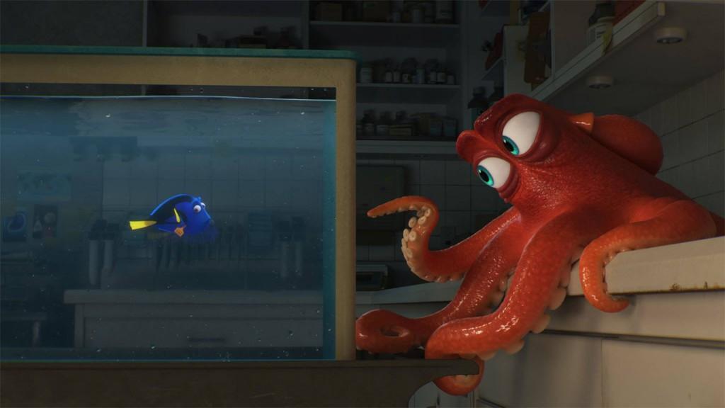 Finding Dory: Dory en Hank de octopus