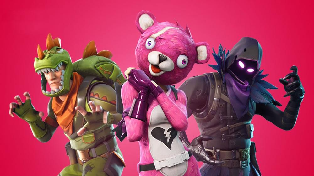 download Fortnite skins: Raven, Rex & Cuddle Team Leader wallpaper