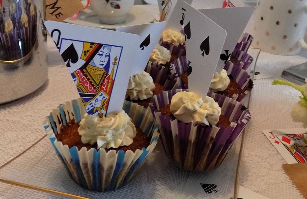 Alice in Wonderland theefeestje - mokka cupcakes