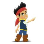 Jake en de Nooitgedachtland piraten kleurplaat