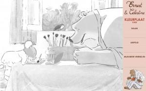 Ernest de beer en Celestine de muis