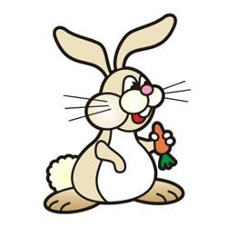 kleurplaat een konijntje printen leuk voor