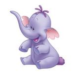 Lollifanten kleurplaat