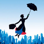 Mary Poppins kleurplaat