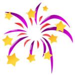 Vuurwerk met Oudjaar en nieuwjaar kleurplaat