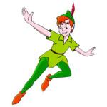 Peter Pan kleurplaat