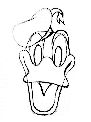 Kleurplaat Overtrekken Leuk Voor Kids Hoe Teken Je Donald Duck