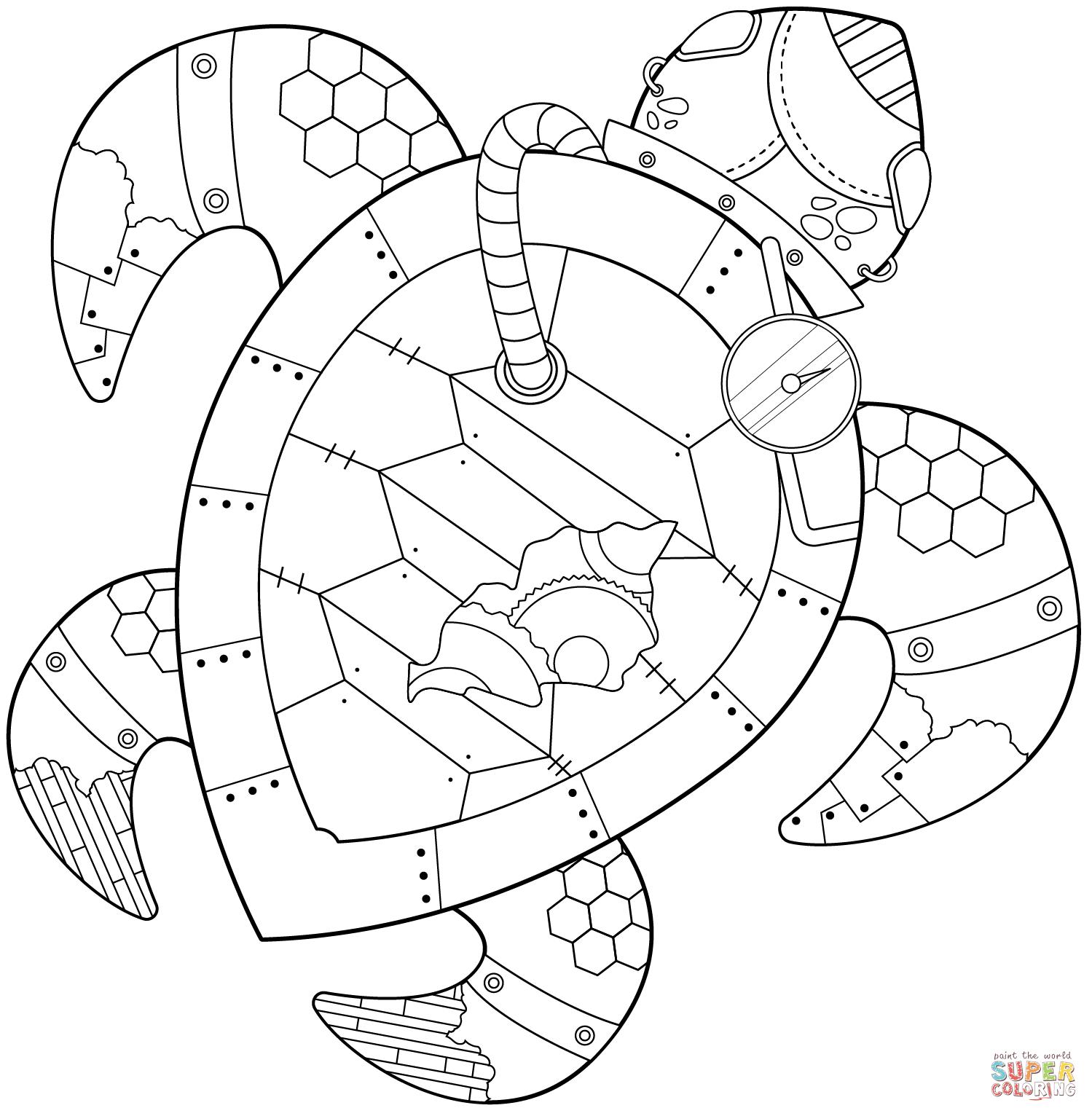 bekijk zeeschildpad kleurplaat