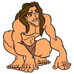 Tarzan kleurplaat