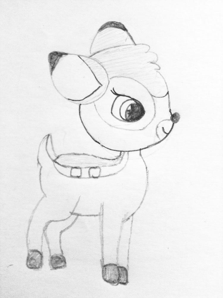 Sinterklaas Kalender Kleurplaat Bambi Tekening Van Manon Leuk Voor Kids