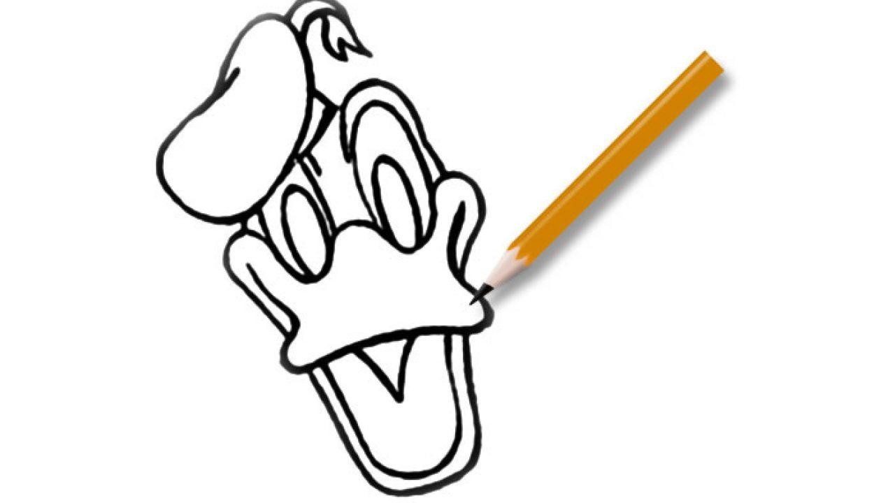 Kleurplaten Donald Duck Gezicht.Leuk Voor Kids Hoe Teken Je Donald Duck