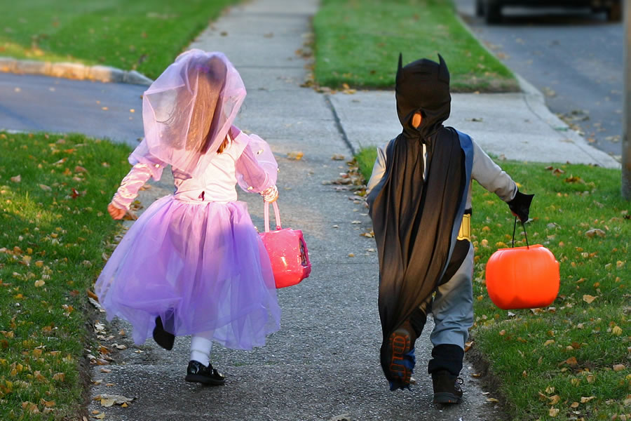 Verklede kinderen: trick or treat
