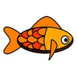 Vissen kleurplaat