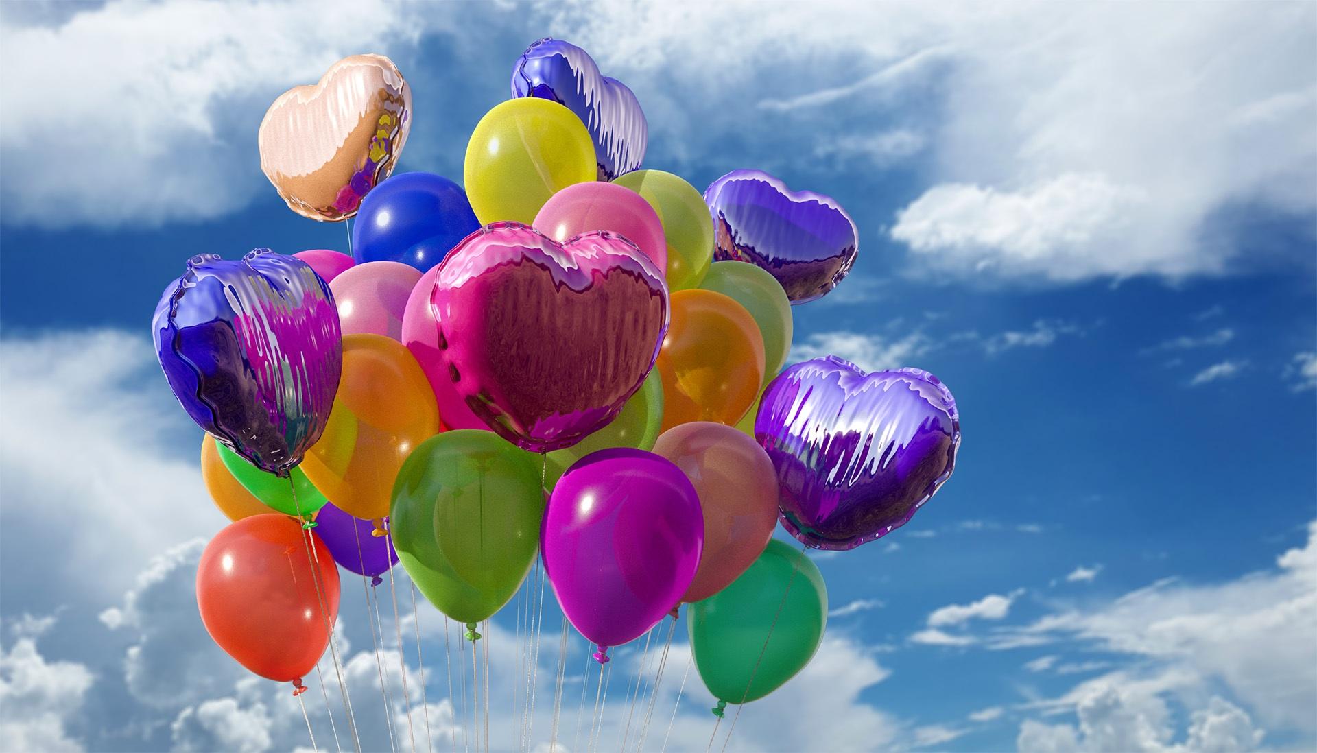 download wallpaper: kleurige ballonnen wallpaper