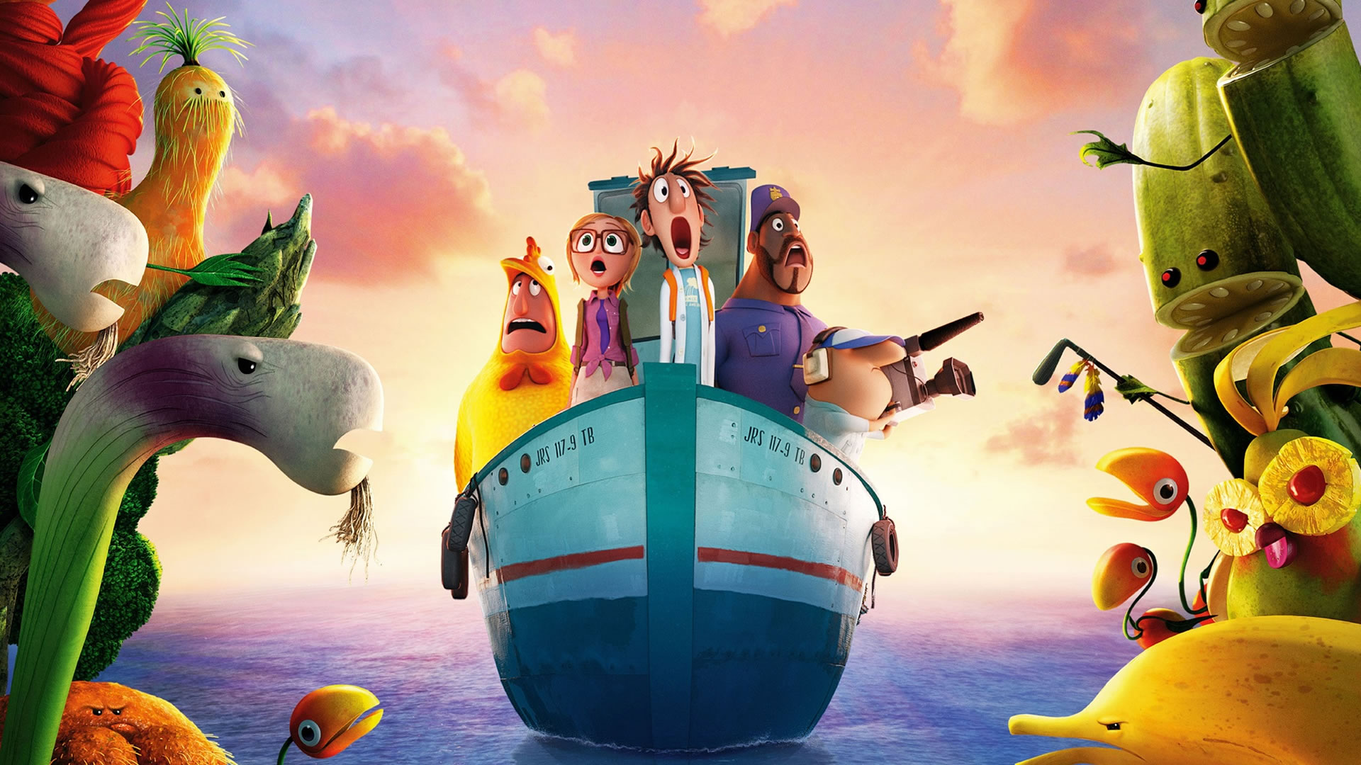 Download Wallpaper Cloudy With A Chance Of Meatballs 2