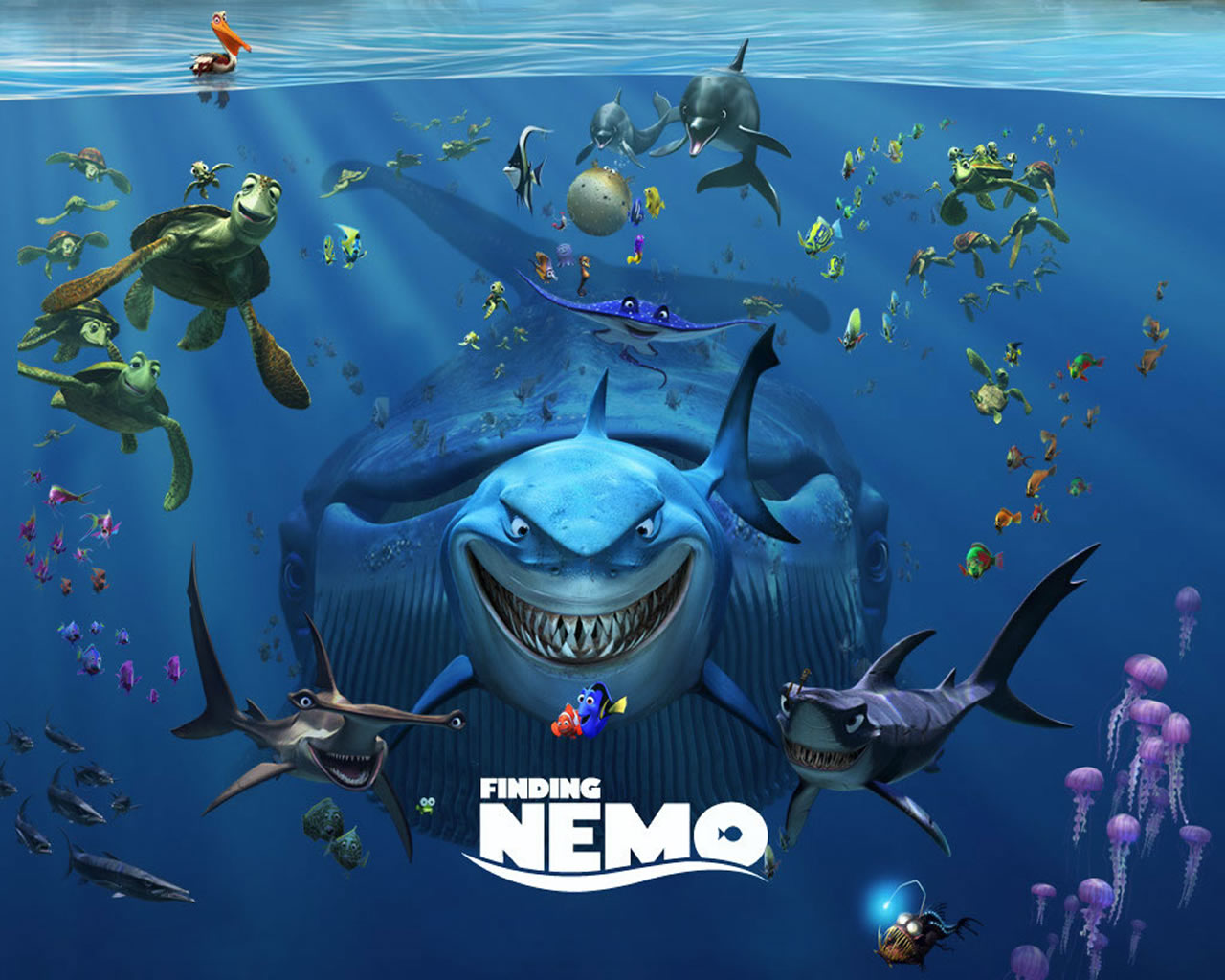 download wallpaper: Finding Nemo figuurtjes wallpaper