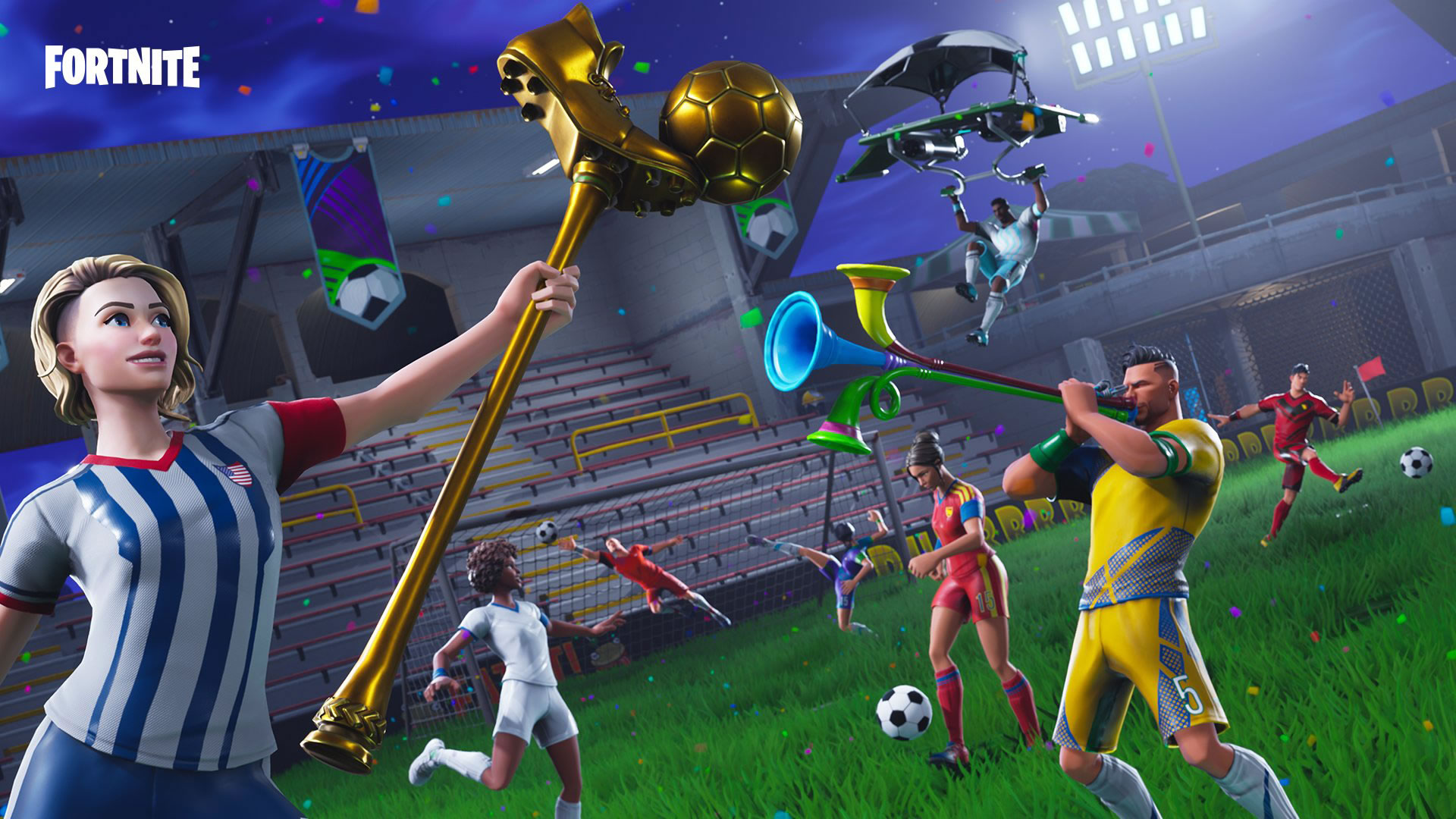download wallpaper: Fortnite WK voetbal wallpaper