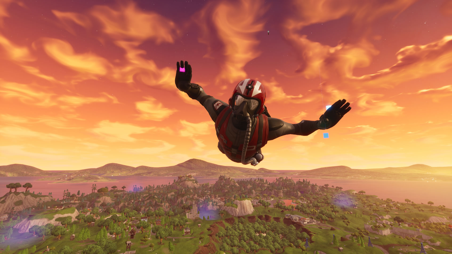 download wallpaper: Fortnite skydiver – Wingman wallpaper
