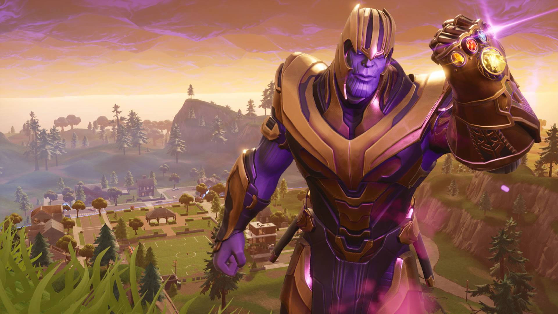 download wallpaper: Fortnite Thanos skin wallpaper