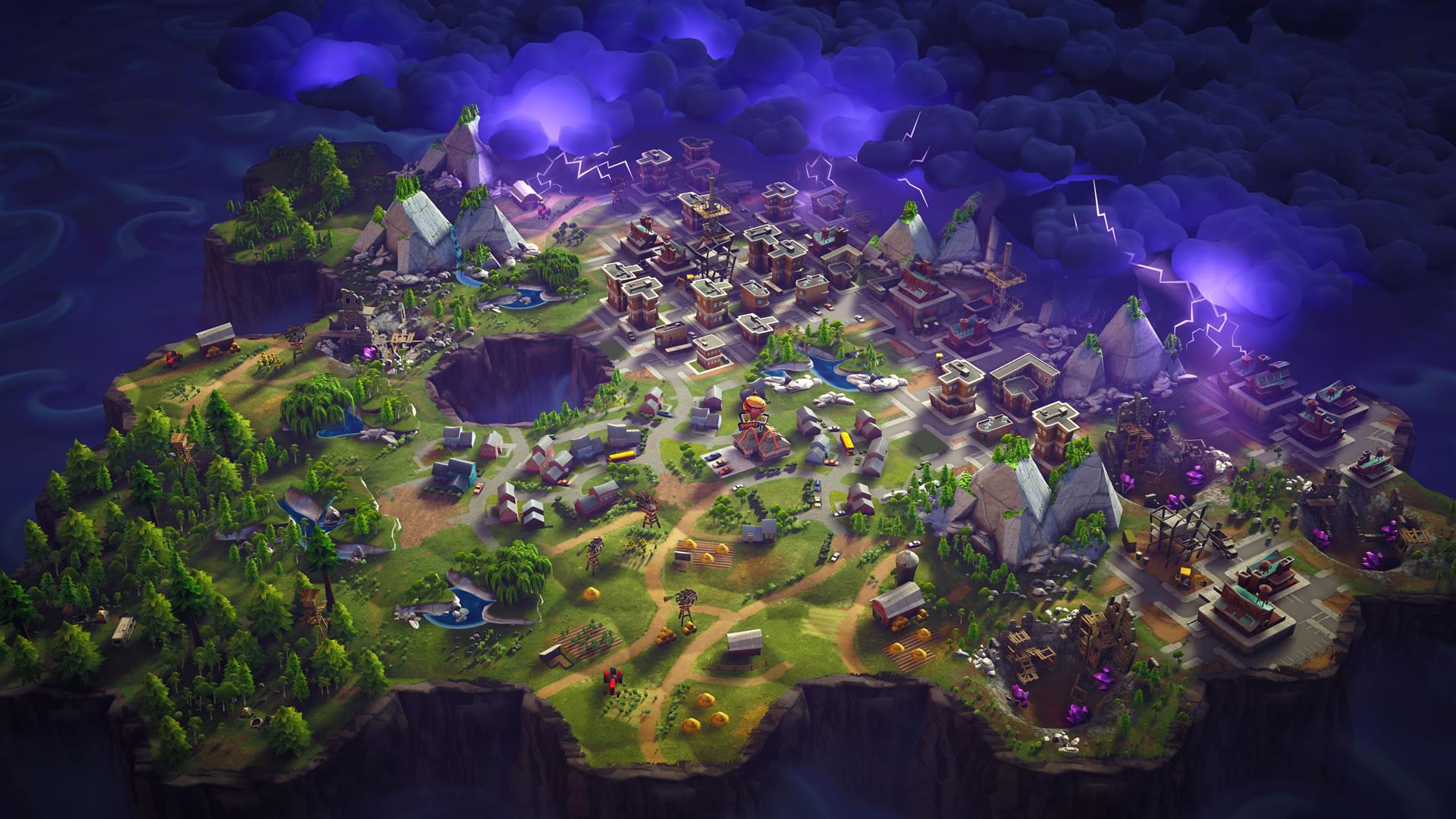 download wallpaper: Fortnite Battle Royale kaart wallpaper
