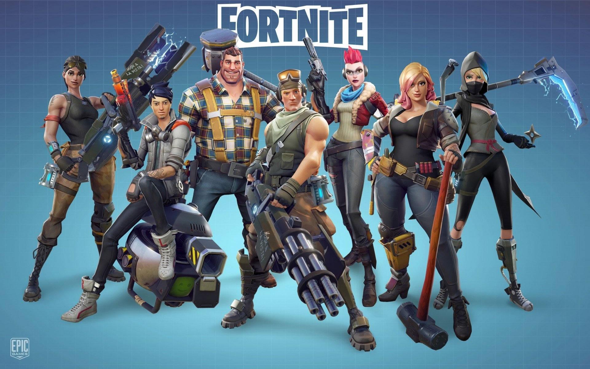 download wallpaper: Fortnite skins wallpaper