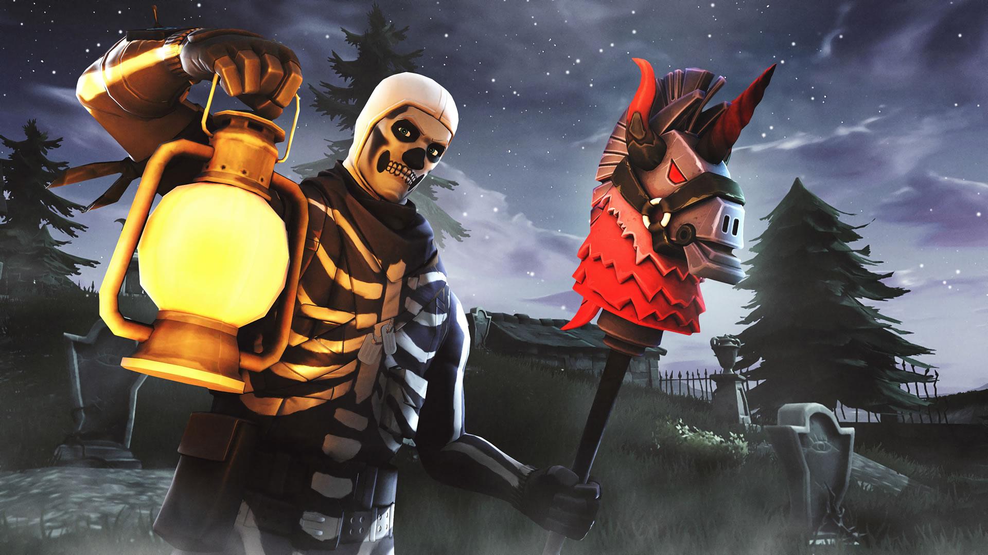 download wallpaper: Fortnite -Skull Trooper wallpaper
