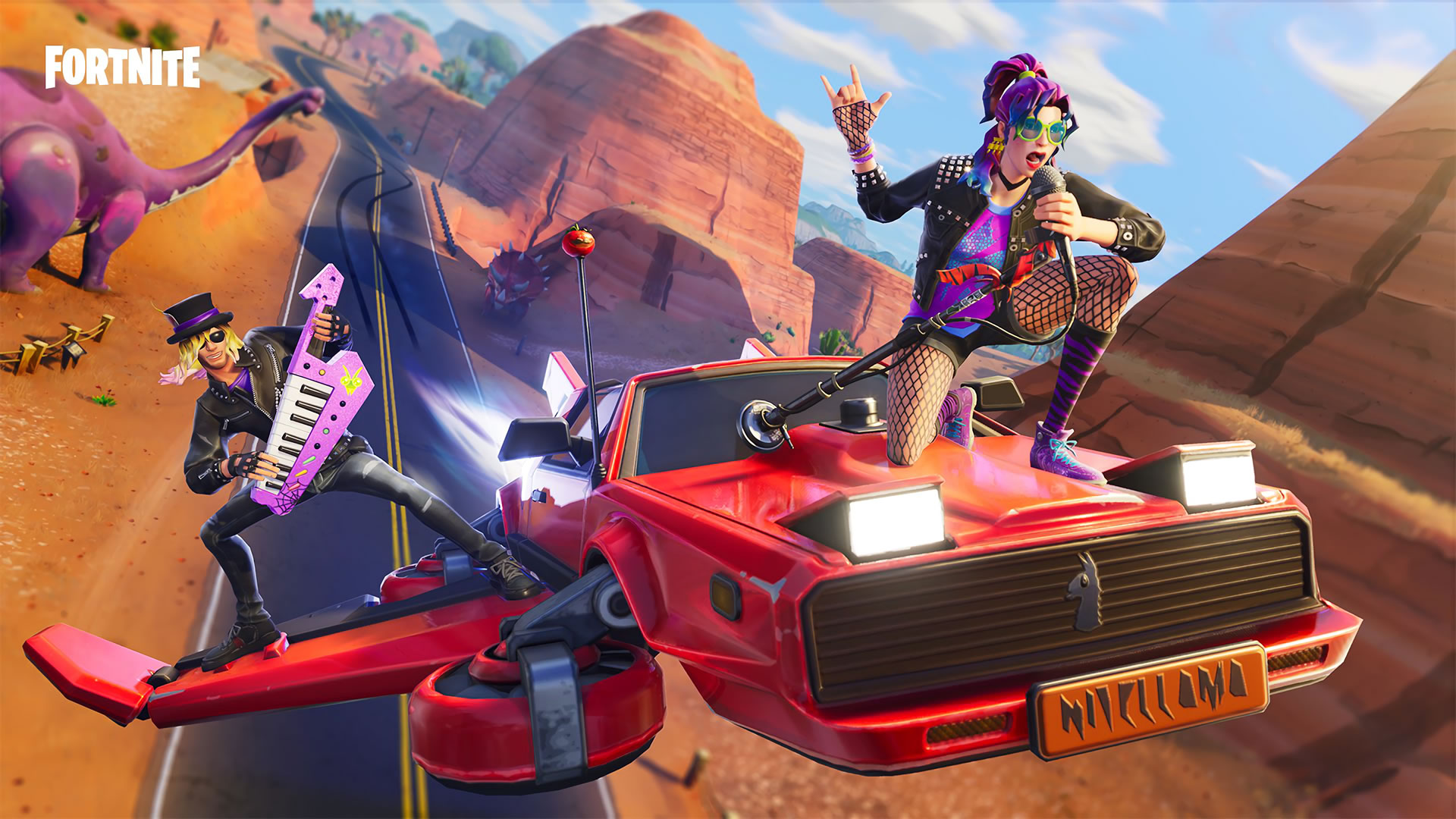 download wallpaper: Fortnite – Stage Slayer & Synth Star wallpaper